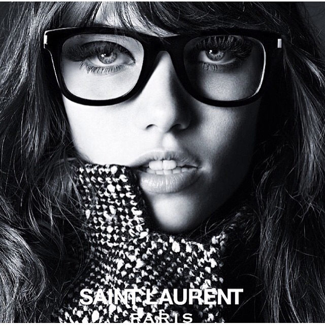 Grace Hartzel stars in Saint Laurent's new eyewear campaign