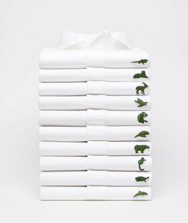 Lacoste replaces its iconic crocodile logo for a very worthy cause