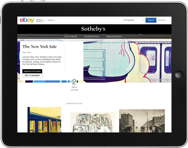 Sotheby's New York auctions to be streamed live on eBay