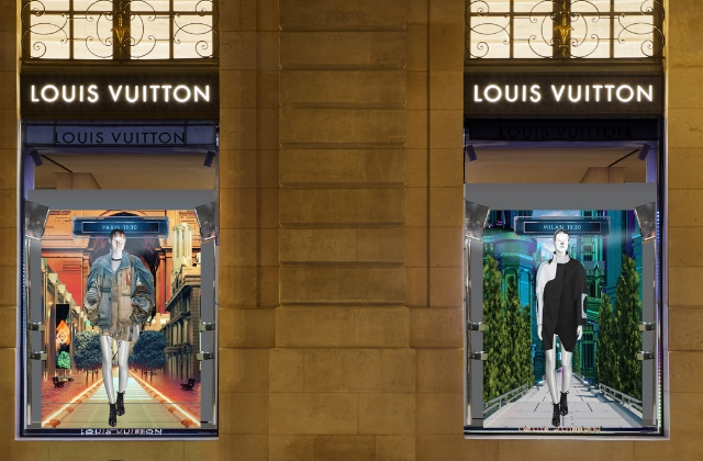 Well this is cool: Louis Vuitton unveils exclusive digital windows for S/S'19