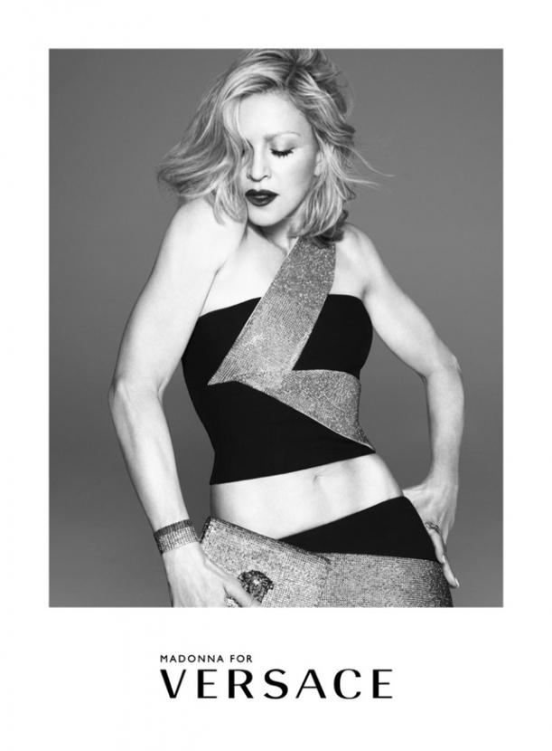 First look: Madonna poses for Versace's new campaign