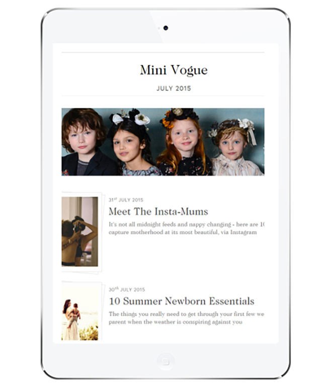 British Vogue celebrates young style stars with 'Mini Vogue' online