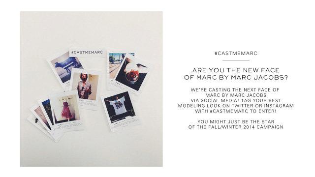 The 'Cast Me Marc' campaign launch by Marc Jacobs