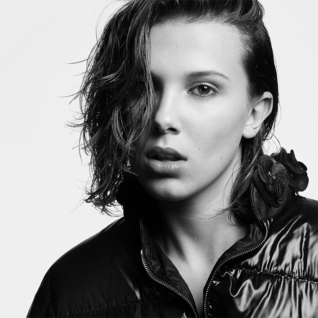 Millie Bobby Brown is amongst the 19 faces in Moncler's new campaign