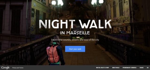 'Night Walk in Marseille' Google Stories new campaign