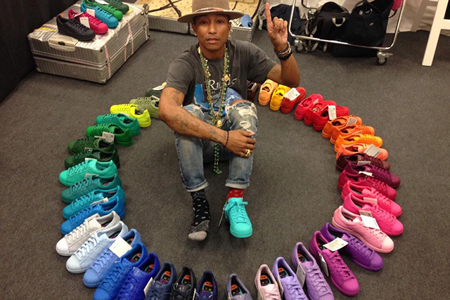 002ce9a9f Pharrell Williams debuts rainbow collection for Adidas Originals ...