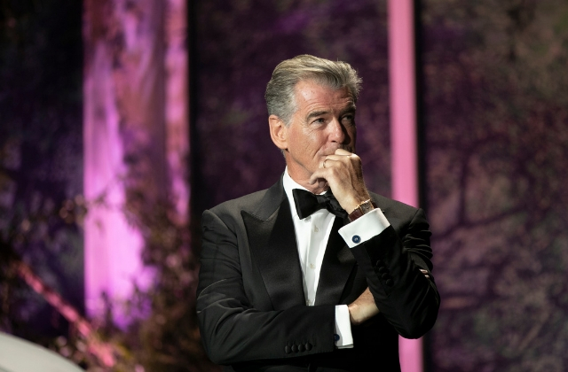Um, Pierce Brosnan's going to be filming in the UAE next week