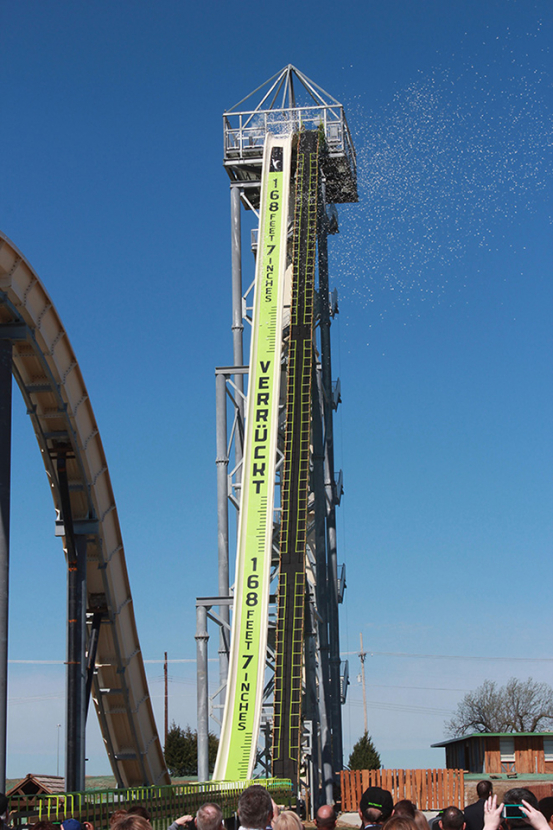 The world's tallest water slide to launch Texas