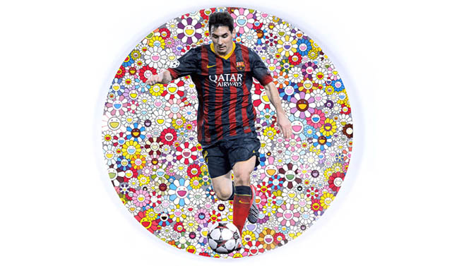 Damien Hirst, Takashi Murakami and Lionel Messi collaborate for Unicef