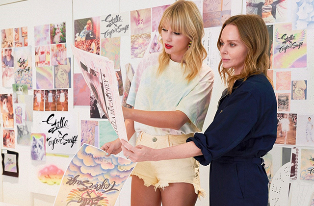 Stella McCartney teams up with Taylor Swift on a sustainable clothing line