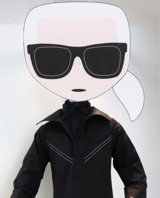 Check out Hatem Alakeel's adorable tribute to Karl Lagerfeld