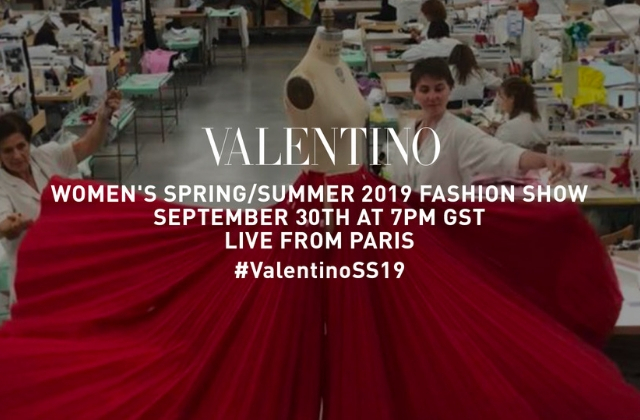 Live stream: Watch the Valentino S/S '19 runway show live from PFW