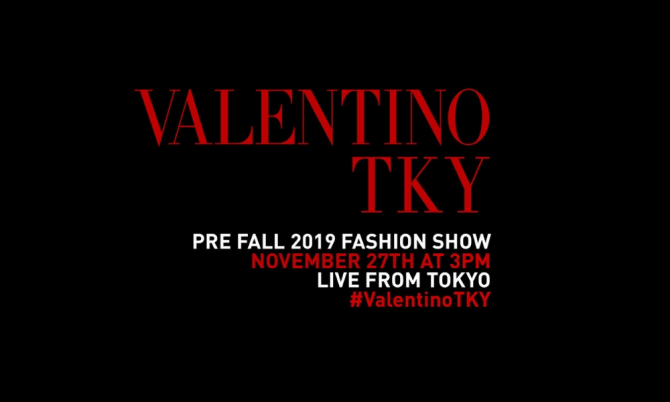 Live stream: Watch the Valentino Pre-Fall 2019 show live from Tokyo