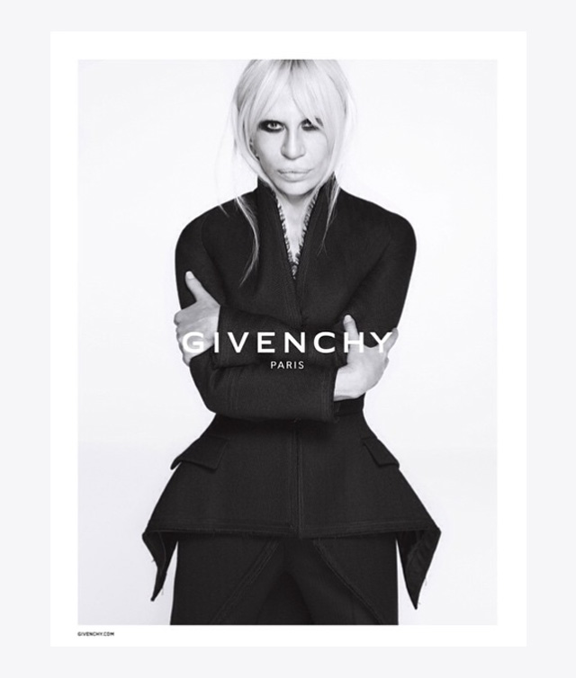 Breaking: Donatella Versace stars in new Givenchy campaign image