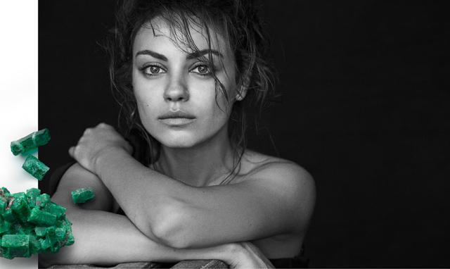 First look: Mila Kunis for Gemfields