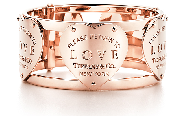 Return To Tiffany Love Cuff in rose gold