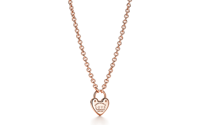 Return To Tiffany Love necklace in rose gold