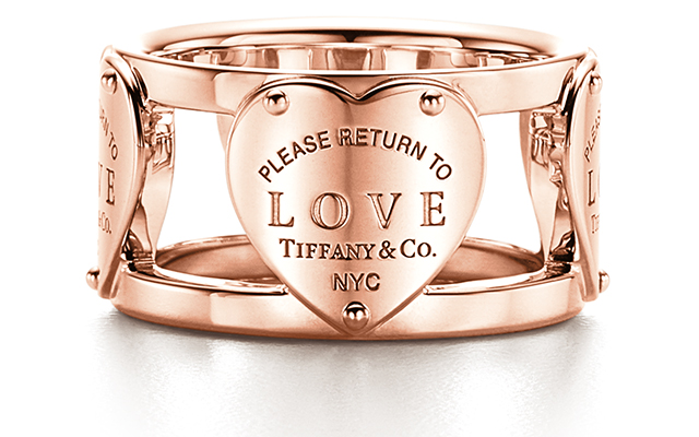 Return To Tiffany Love ring in rose gold