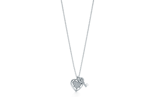 Return To Tiffany Love Tag Key pendant silver and diamond
