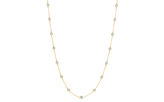 Elsa Peretti Diamonds by the Yard necklace in 18k gold, Dhs72,000