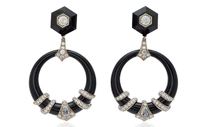 Fred Leighton drop earrings available on Moda Operandi, Dhs44,040