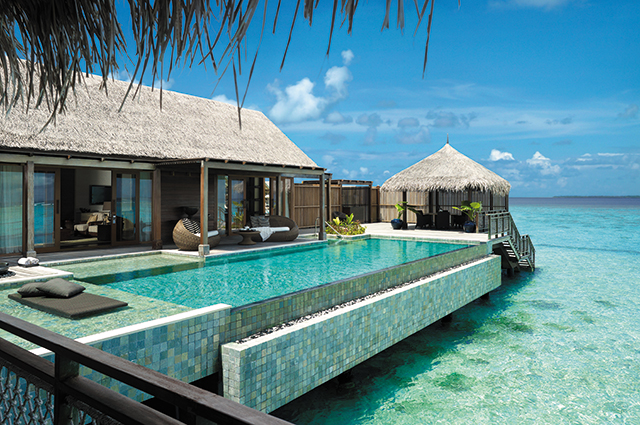Shangri-la Villingili Resort & Spa, Maldives. Opt for a stay at one of the much-loved over-water villas as well as culinary adventures of your choice, whether in the jungle, on a beach or on a yacht. For reservations, call +960 689 7888.