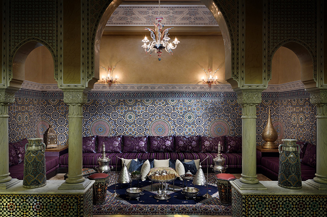 Fes Marriott Hotel Jnan Palace Hotel, Morocco. The combination of luxury with excellent city location, allowing easy exploration of the Fes' famed souq as well as the 14th-century Bou Inania and Al Attarine schools. For reservations, call +212 5359 47250.