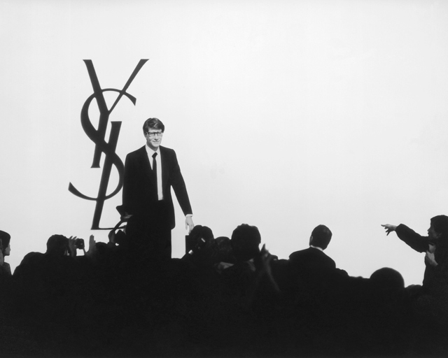 Yves Saint Laurent at his show