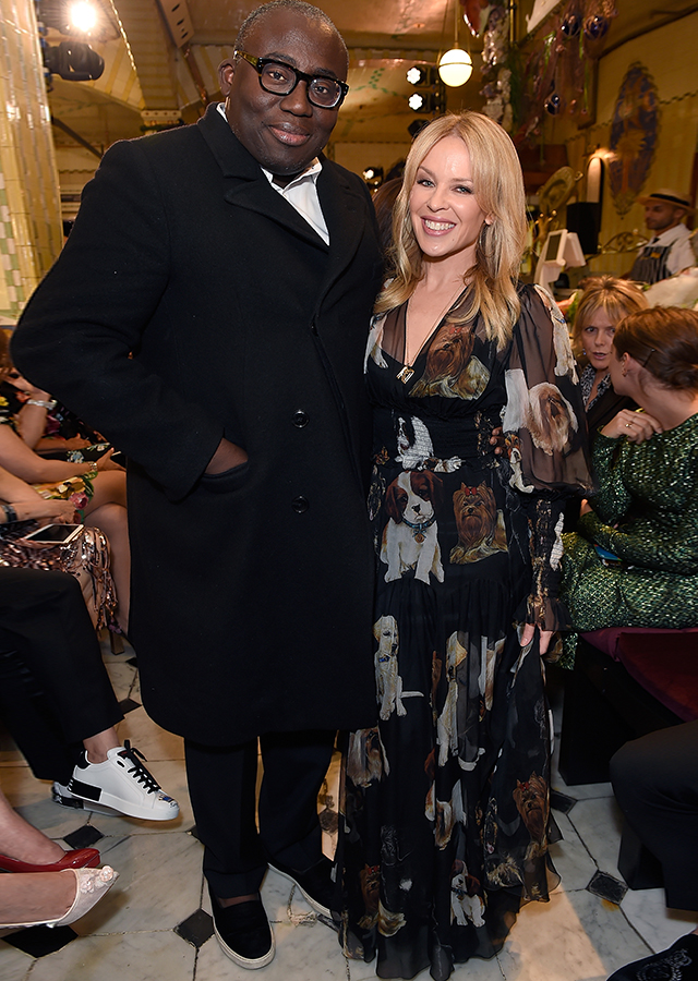 Edward Enninful and Kylie Minogue