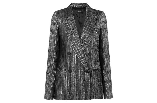 Isabel Marant Denel double-breasted textured-lamé blazer, Dhs4,002