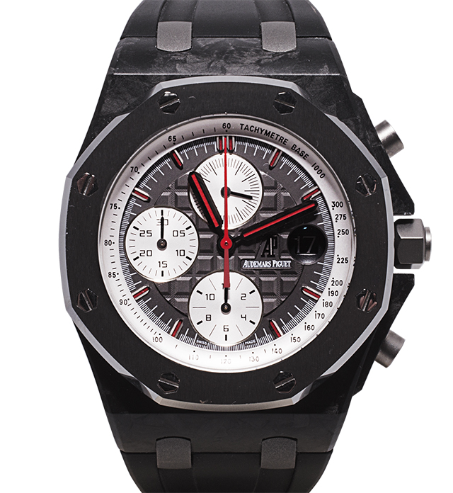 "Audemars Piguet Royal Oak Offshore ""Jarno Trulli' from 2008 Case made of Carbon Fibre and Titanium Limited Edition with 500pcs only Value: AED 147,000"