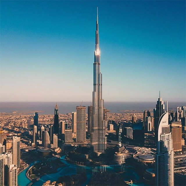 2. Burj Khalifa – 2.2 million posts