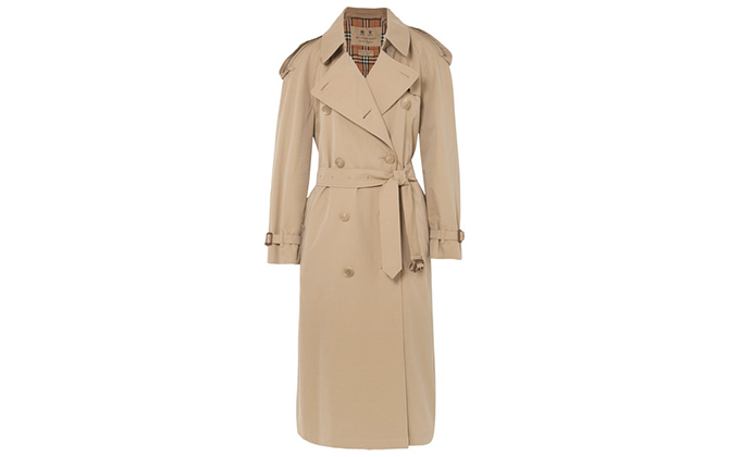 Burberry Westminster Long cotton-gabardine trench coat exclusively available on Net-a-Porter, Dhs8,092