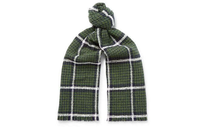Mr. P. Checked scarf exclusively available on Mr Porter, Dhs477
