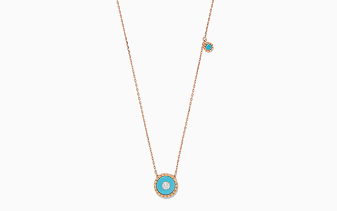 Marli's White-Gold, Diamond & Turquoise Coco Necklace, Dhs6,800