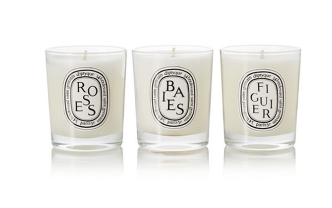 Diptyque's Set of three scented candles, Dhs270