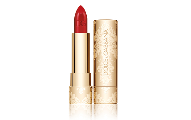Dolce & Gabbana's Classic Cream Lipstick from its Sweet Holidays collection, Dhs175