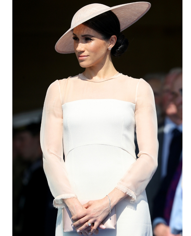 The dusty pink Goat dress with the Philip Treacy Hat at The Prince of Wales' 70th Birthday Patronage Celebration