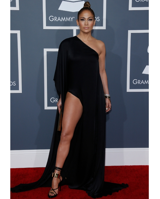 In Anthony Vaccarello at the 2013 Grammy Awards