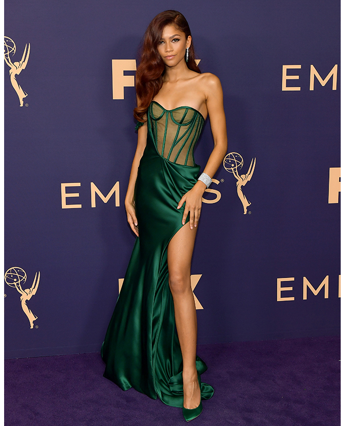 Zendaya dressed in custom Vera Wang