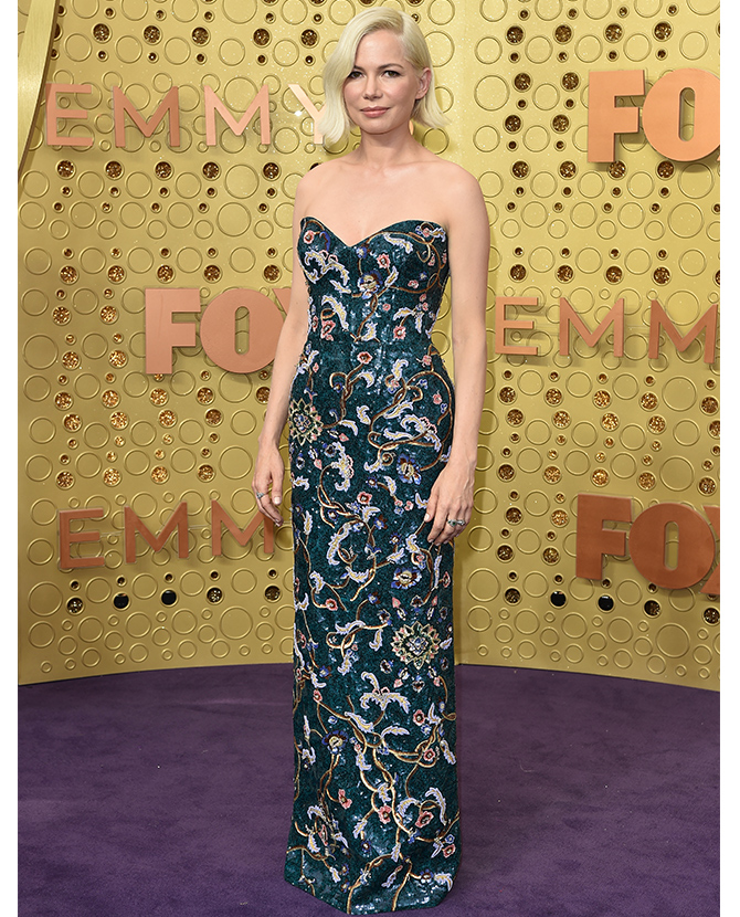 Michelle Williams dressed in Louis Vuitton