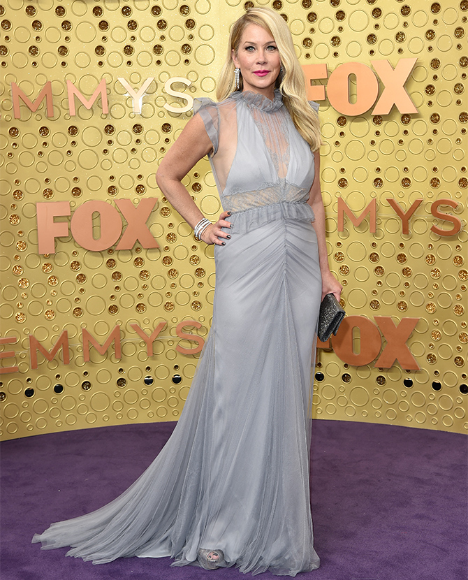 Christina Applegate dressed in Vera Wang