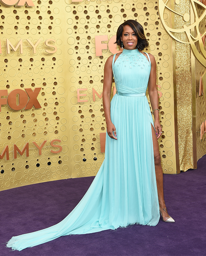 Regina King dressed in Jason Wu