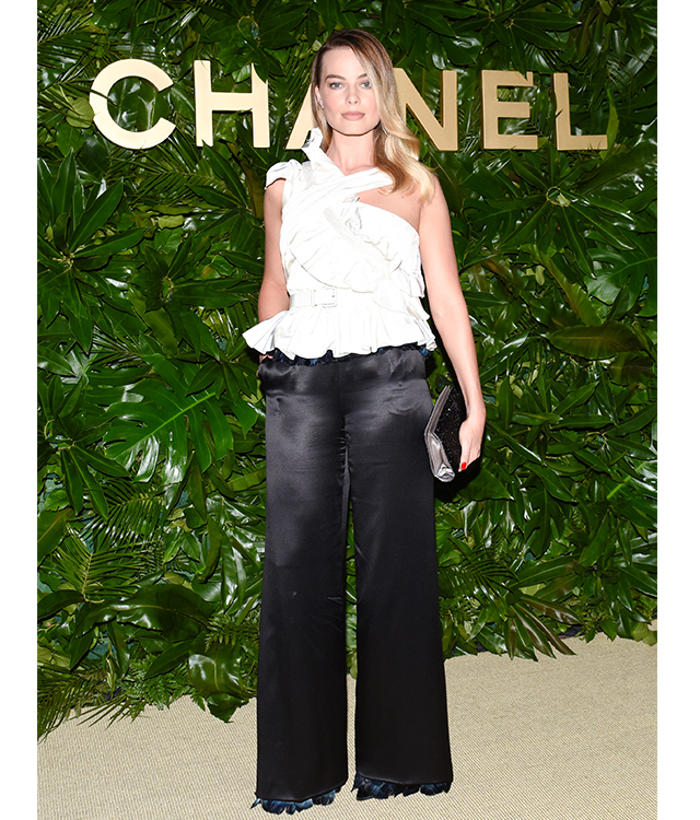 Margot Robbie wears Chanel FW19 Haute Couture collection to celebrate the launch of the new fragrance Gabrielle Essence