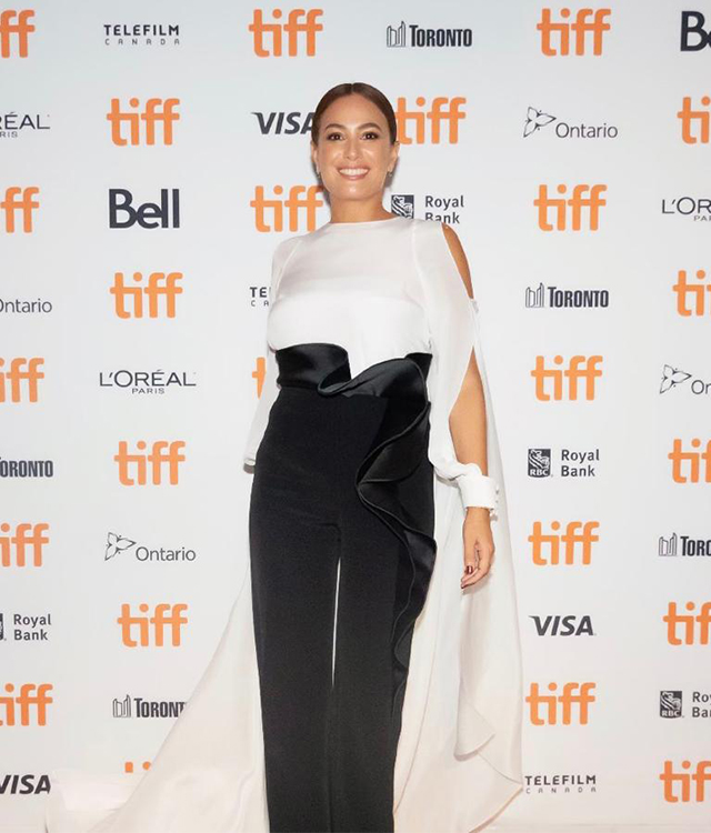 Hend Sabry wears Azzi & Osta SS19 at Toronto International Film Festival