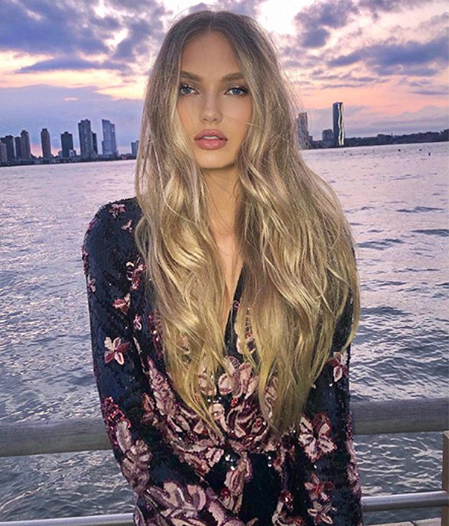 Romee Strijd wears Zuhair Murad Resort 2019 in New York
