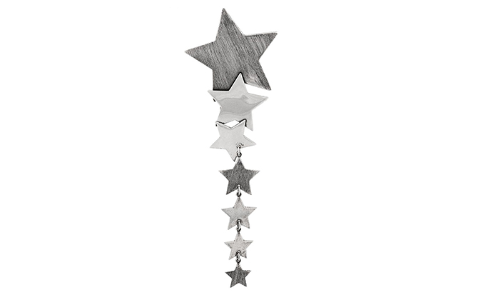 Saint Laurent star drop earrings at Farfetch