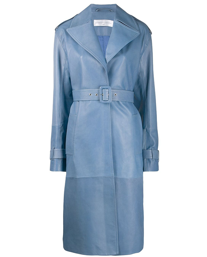 Victoria Victoria Beckham's belted trench coat on Farfetch