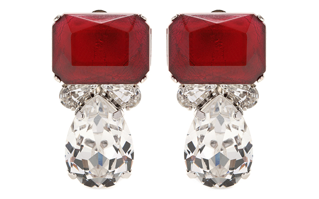 Crystal embellished clip-on earrings, Dhs1,300