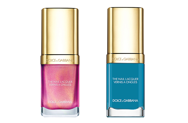 Nail Lacquer in Royal Pink and Royal Blue